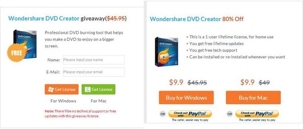 Wondershare dvd creator discount coupon