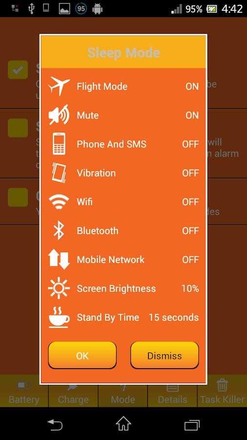 Battery Friendly Saver- screenshot