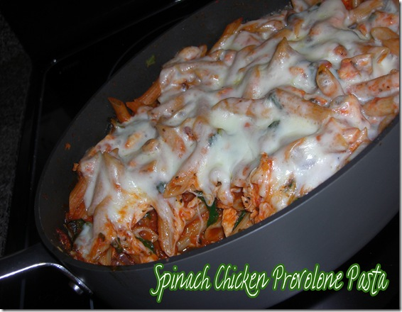 spinach chicken provolone pasta