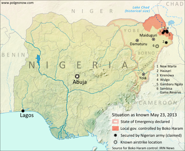 Nigeria Conflict Map Assault On Boko Haram Political Geography Now - Nigeria map