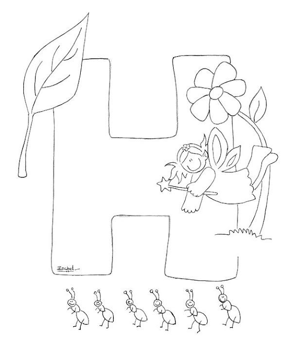 H Abecedario Profesiones Dibujalia Dibujos Para Colorear