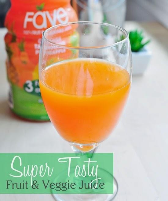 Fave Juice: 8 oz = 3 full servings of veggies!