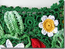 irish crochet poppy top how to 6