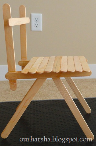 Popsicle sticks Chair (25)
