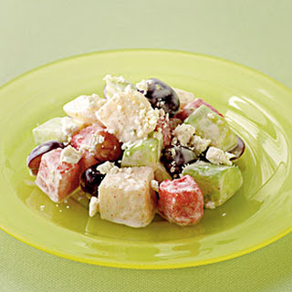Cucumber, Asian Pear, and Watermelon Salad with Ricotta Salata Recipe