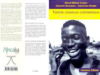 """Les deux couvertures du livre """"Théatre Congolais Contemportain"""" co-écrit par David-Minor Ilunga, Célestin Kasongo et Jonathan Kombe. Radio Okapi"""