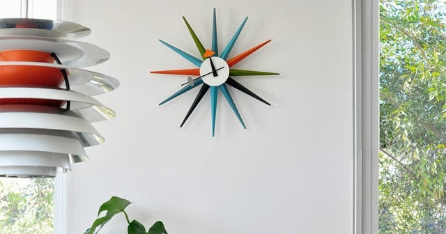 vitra designer modernist 1950s sunburst clocks wall clock. Black Bedroom Furniture Sets. Home Design Ideas