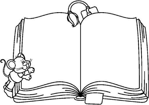 Libreta De Dibujo Con Dibujos Infant: DIBUJOS DE LIBROS Y LIBRETAS PARA COLOREAR