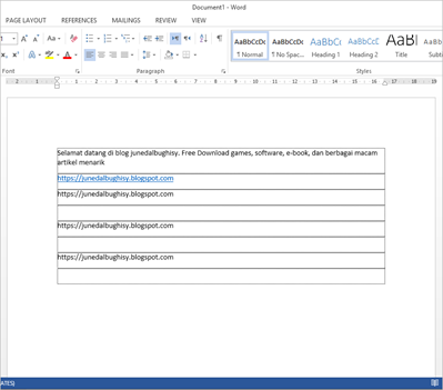 Cara Menghilangkan Garis Text Boundaries Antar Paragraph di Ms Word 2013