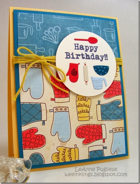 LeAnne Pugliese WeeInklings Birthday Card My Favorite Things Bon Appetit
