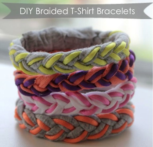 46 braided t-shirt bracelets