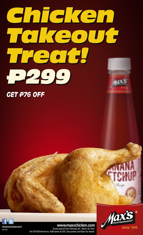 Max's take-Out Promo P299