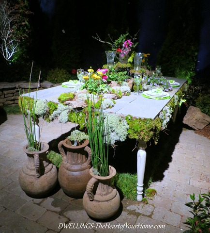 Southern Spring Show Floral Fountain Table