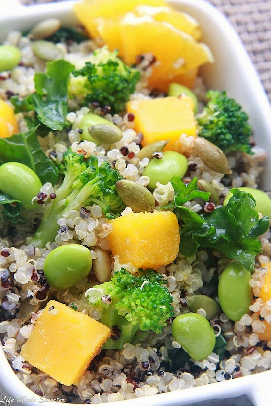 Fall Quinoa Salad with Roasted Butternut Squash and Wasabi Lime Dressing - @lifemadesweeter.jpg