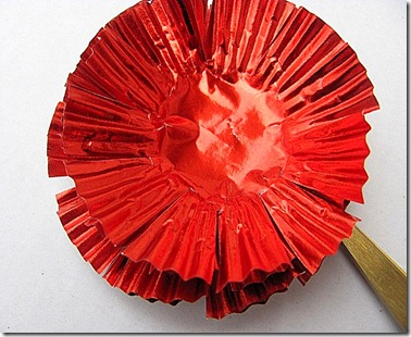 red cupcake papers