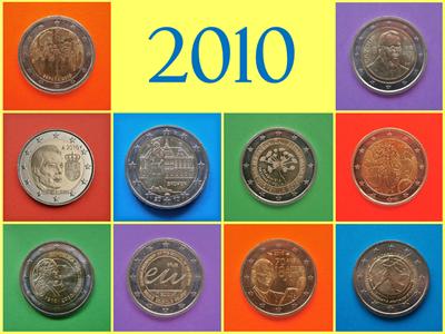 2010 monedas conmemorativas de 2 Euros