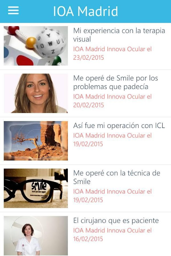 IOA MADRID: captura de pantalla
