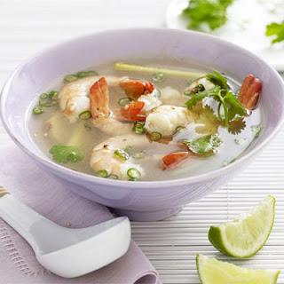Tom Yum (Hot & Sour) Soup with Prawns Recipe