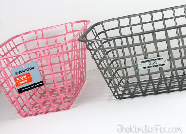 Plastic basket to metal transformation