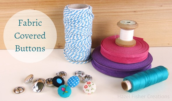 Fabric Cover Button diy tutorial 1