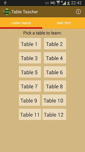 Table Teacher - Learn Tables