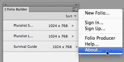 Screenshots DPS Desktop Tools for InDesign 31.0.1 - Create and preview .folio files