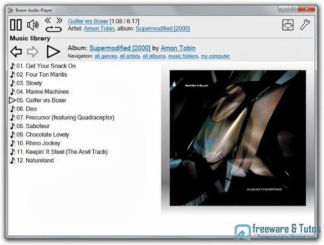 Boom : un lecteur audio portable pour remplacer Winamp