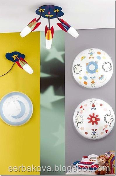 детские светильники и люстры 1