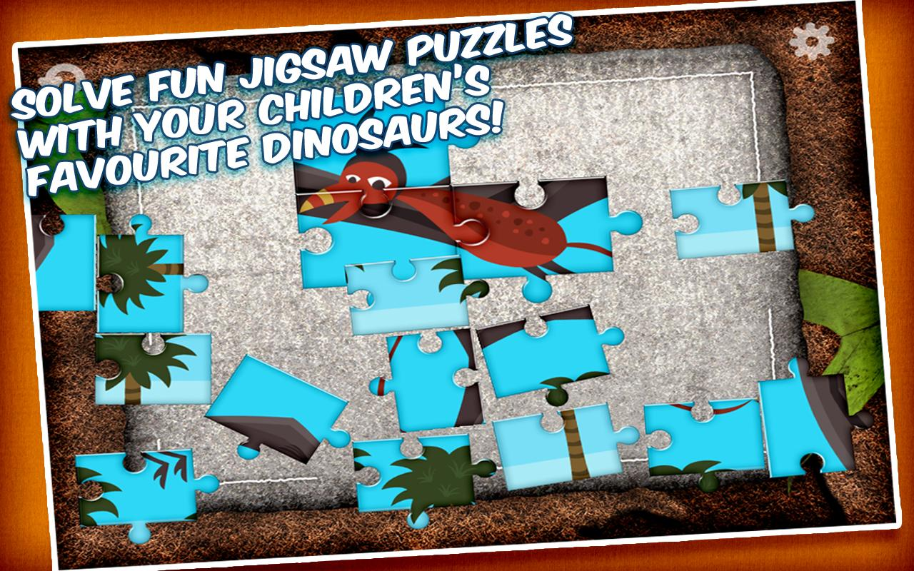 Jigsaw Puzzle with Dinosaurs- screenshot