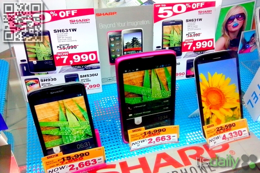 sharp aquos phone 50 percent off sale