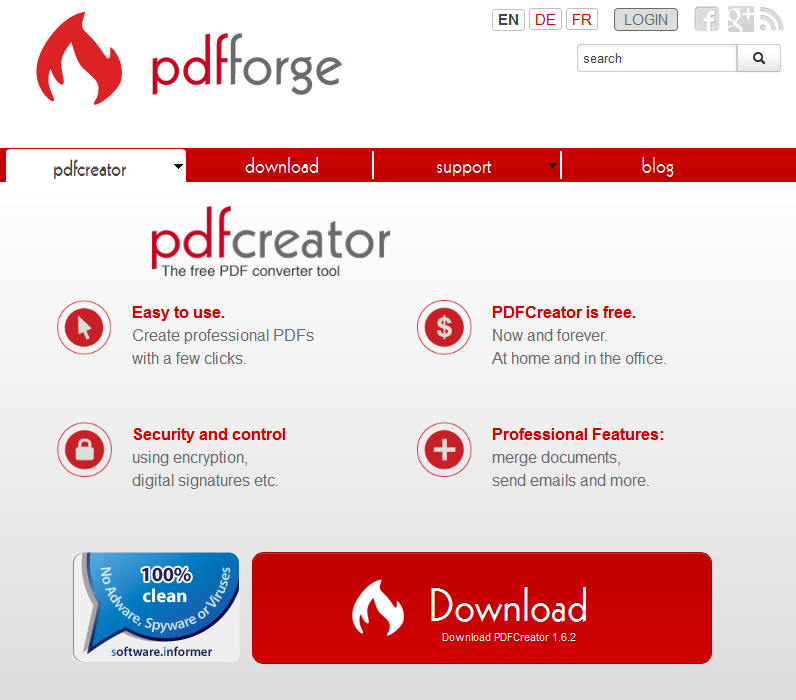 easy to use secutrity and control pdf creator professional extra features