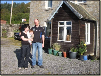 Heather, Thomas and Eddie outside their guest house