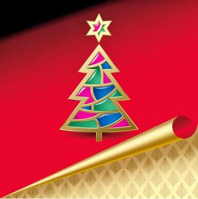 новогодняя елочка открытка