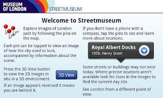 Screenshot of Museum of London: Streetmuseum