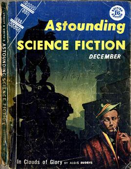Cover by Kelly Freas of Astounding Science Fiction magazine, December 1955, British edition.
