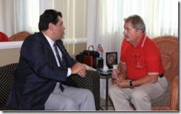 Senador Eduardo Braga encontra-se com o ex-presidente Lula