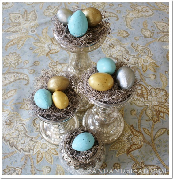 gilded and speckled eggs