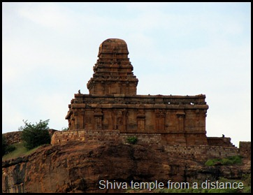 Shiva temple from a distance