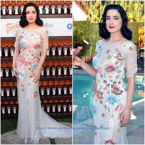 Dita Von Teese and Cointreau Launch Cointreau Poolside Soirees Event4