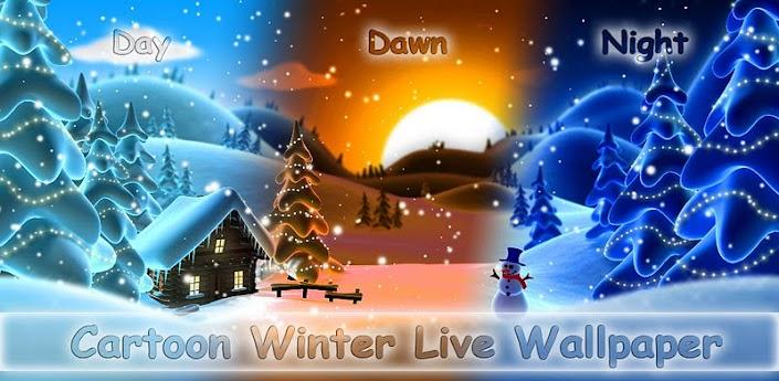 Cartoon Winter Live Wallpaper - потрясающие зимние живые обои
