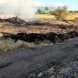 Fire burned to mauka  edge of path- makai edge are N Kihei residents on Mali Mali near Alulike intersection