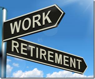 指向任一项工作或退休的街道标志的照片