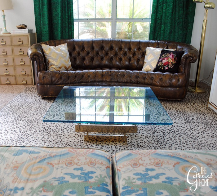 vintage brass stacked coffee table6