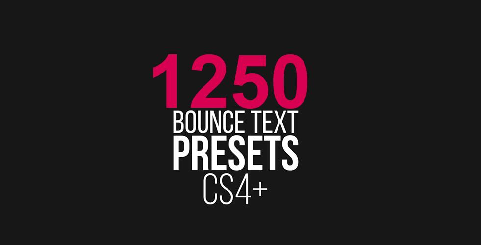 Bộ 1250 preset hiệu ứng cho chữ đẹp tuyệt trong After Effect