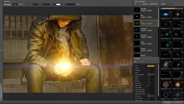 Plugin Knoll light Factory Photoshop