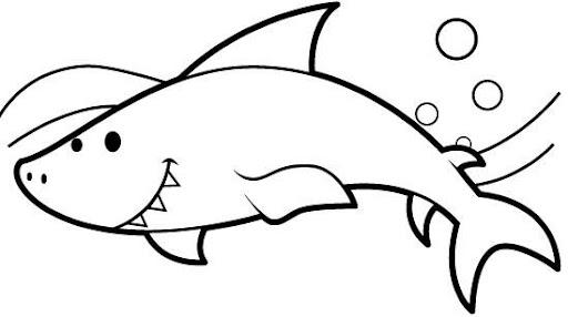 Dibujos De Un Tiburon Para Colorear Imagui