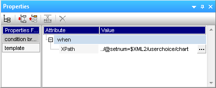 Updated XPath expression for user-selected display