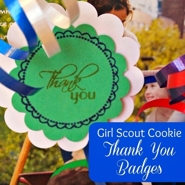 ThankYouBadges #GirlScoutCookies #stampingprojects