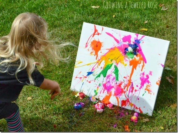egg painting - What a fun, colorful way for kids to paint for Easter or as a summer activity for kids.
