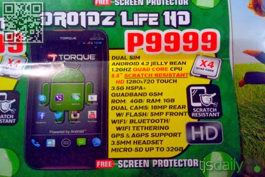 Torque DROIDZ Life HD Specs Price Philippines